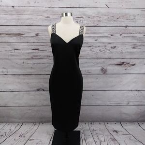 Ted Baker Mally Embellished Bodycon Dress Black 12